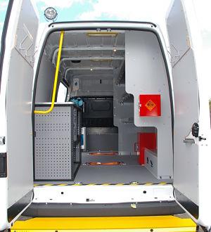Specialist Van Conversions Welfare Vehicle Seat Racking
